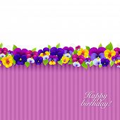 Background With Color Pansies