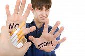 Teenager Refuses Cigarette