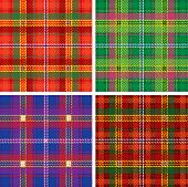 Vector pattern of seamless tartan plaid