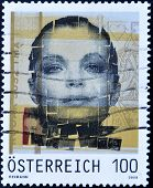 AUSTRIA - CIRCA 2008: A stamp printed in Austria shows actress Romy Schneider, Sissi