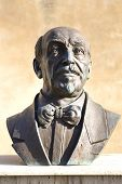 stock photo of luigi  - Bronze statue of Luigi Pirandello - JPG