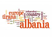 picture of albania  - Albania word cloud image with hi - JPG