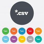 File document icon. Download CSV button.