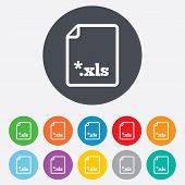 File document icon. Download xls button.