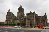 Cathedral Metropolitan In The Zocalo Of Mexico City.