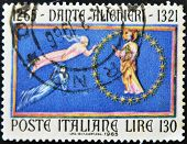 ITALY - CIRCA 1965: A stamp printed in Italy shows Dante Alighieri circa 1965