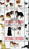 CHAD - CIRCA 2010: A stamp printed in Republic of Chad shows different dog breeds serie circa 2010