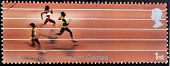 UNITED KINGDOM - CIRCA 2005: Stamp printed in Great Britain showing Athletics XVI commonwealth game
