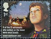UNITED KINGDOM - CIRCA 2007: A stamp printed in Great Britain celebrating the centenary of the scout