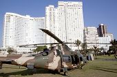 Military Helicopter Landed On Beachfront In Durban