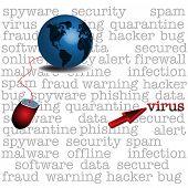 Постер, плакат: Computer virus