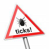 ticks warning sign