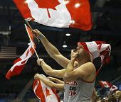 Curling Canada Fans Flag Waving