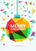 Merry Christmas Greeting Card. Vector Illustration
