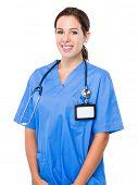 Brunette woman doctor