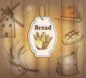 Vintage labels bread
