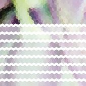 Lavender Pastel Defocused Background With Geometric Ornament With Stripes. Eps10