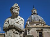 Fontana delle Vergogne in Piazza Pretoria in Palermo of Sicily, Italy