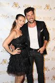 LOS ANGELES - SEP 10:  Elena Grinenko, Maksim Chmerkovskiy at the Dance With Me USA Grand Opening at