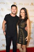 LOS ANGELES - SEP 10:  Valentin Chmerkovskiy, Danica McKellar at the Dance With Me USA Grand Opening