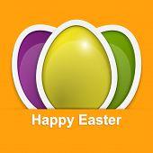 Easter Egg. Happy Easter Card. Vector Illustration.
