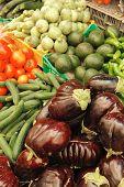 fresh raw taste new vegetables on asian market