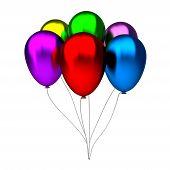 olorful birthday balloons