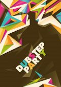 Abstract dub step party poster. Vector illustration.