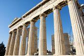 Columns In Parthenon Temple
