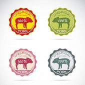 Set Of Vector Pig Label