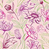 Retro floral pattern