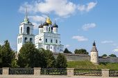 The Krom Or Kremlin In Pskov, Russia