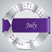 2015 July Calendar Design