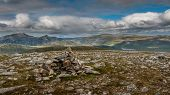 Summit Cairn On Craig Dhudh Fannaich