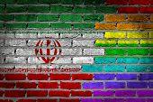 Dark Brick Wall - Lgbt Rights -