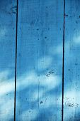 Blue Wooden Fence