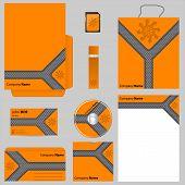 Orange Business Vector Set