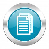 document internet blue icon