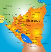 Vector color map of Nicaragua country