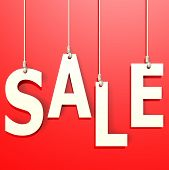 Sale Word In Red Background
