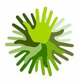 Green Hand Print icon