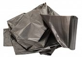 Roll of plastic garbage bags