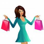 girl supermarket package