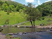 Stepping Stones In Dovedale.