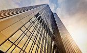 image of frankfurt am main  - modern office tower at dawn Frankfurt am Main Germany - JPG