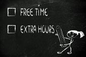 Lifestyle Choices: Multiple Choice Test, Free Time Or Extra Working Hours