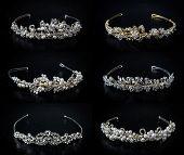 Set Of Six 6 Wedding Diadems