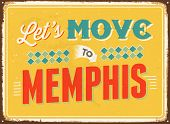 pic of memphis tennessee  - Vintage metal sign  - JPG