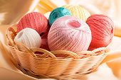 Colorful cotton yarn