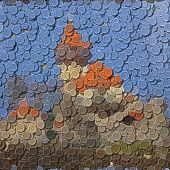 Castle Sewing Buttons Image Generated Background